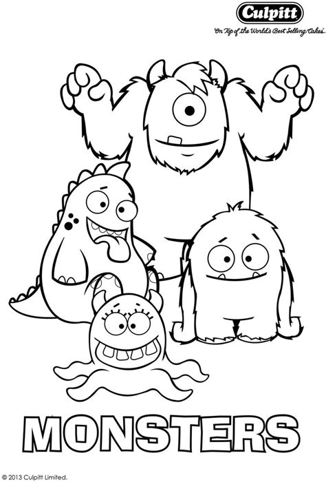 little monsters coloring pages get your fab free monster colour in sheet to keep your