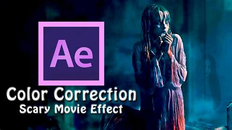 after effects color correction color correction scary effect after effects