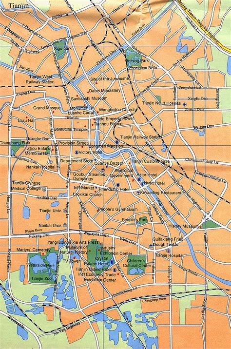 tianjin china map tianjin travel map tianjin maps tianjin attraction maps tianjin tour map tianjin