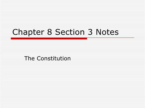 chapter 8 section 1 chapter 8 section 3 notes