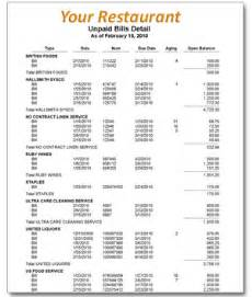 restaurant accounting accounts payables services and