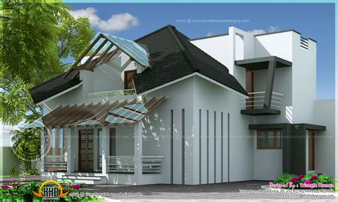 kerala bungalow images modern house two faced modern estate bungalow kerala home design and