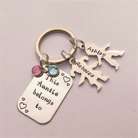 personalised gifts for personalised auntie gift personalized auntie keychain gift