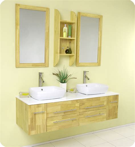 bathroom with 2 sinks small bathroom vanities with vessel sinks as an
