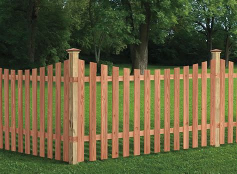 universal forest products spaced picket wood fence styles