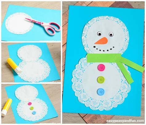 snowman craft for doily snowman craft easy peasy and