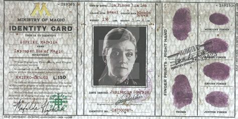 ministry of magic identity card template ministry of magic passport 2 by alexskulluterna on deviantart