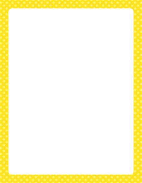 printable polka dot border paper printable yellow polka dot border free gif jpg pdf and