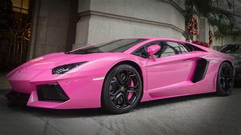 bright pink lamborghini aventador