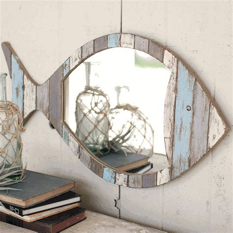 Coastal Bathroom Mirrors by Nautical Mirrors Driftwood Fish Mirror Coastal