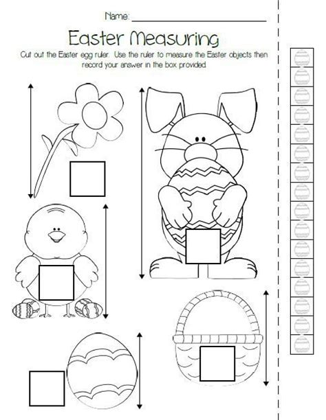 printable easter measuring activity pk arctic animals