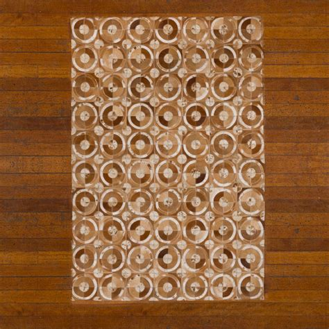 Patchwork Leather Rug - buy patchwork leather cowhide rug 12p5057 120x180cm