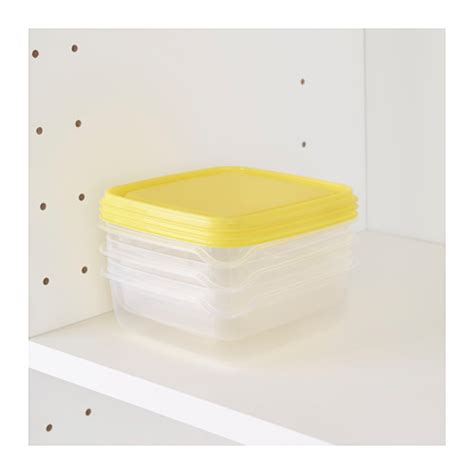 Pruta Food Saver Ikea pruta food container transparent yellow 0 6 l ikea