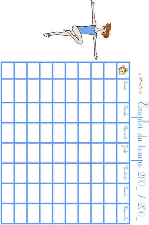 Imprimer L Emploi Du Temps Motif Gym T 234 Te 224 Modeler Coloriage Emploi Du Temps Imprimer L
