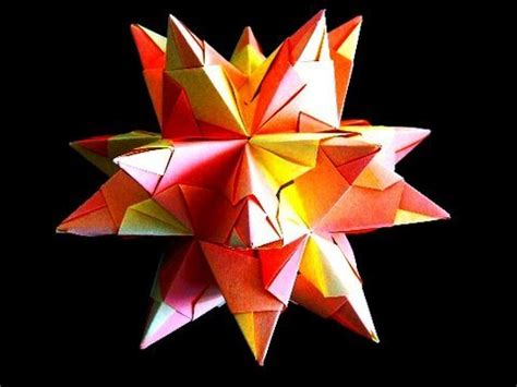 Stellated Dodecahedron Origami - how to make an origami great stellated dodecahedron