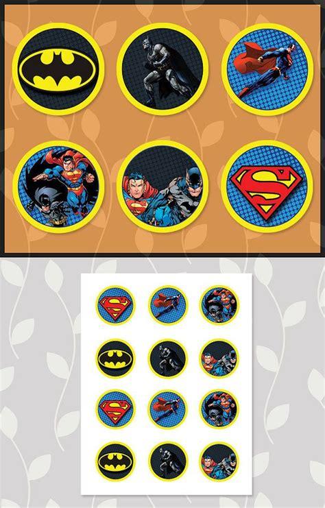 Cupcake Topper Batman Superman 1000 images about birthday on invitations batman