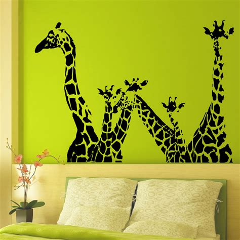 animal wall mural animal giraffe vinyl wall decal giraffe jungle safari