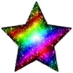 large rainbow glitter star