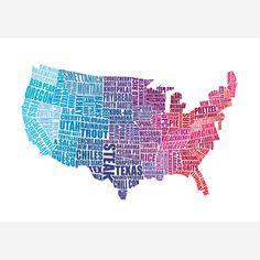 creative interesting usa maps images maps