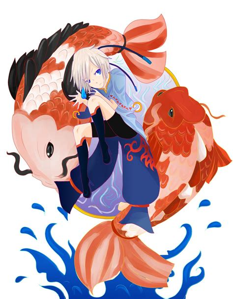 anime fish girl koi fish girl by anomynousness on deviantart