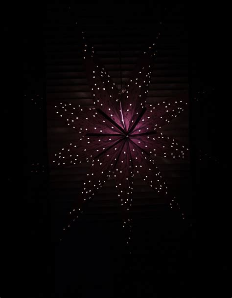 black christmas light purple star image 79359 on