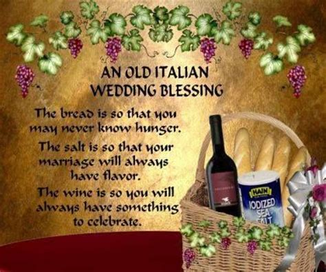 Wedding Blessing Ideas by An Italian Wedding Blessing Italian Phrases