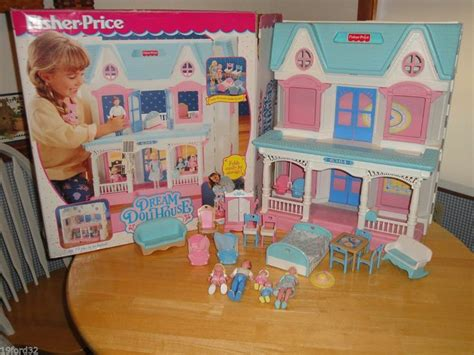 fisher price dolls house fisher price loving family dream doll house 1990 s w box figures accessories this