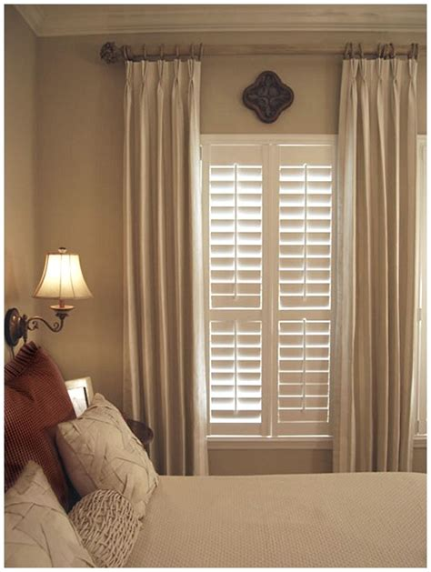 shutters and curtains window treatments ideas window treatment bedroom