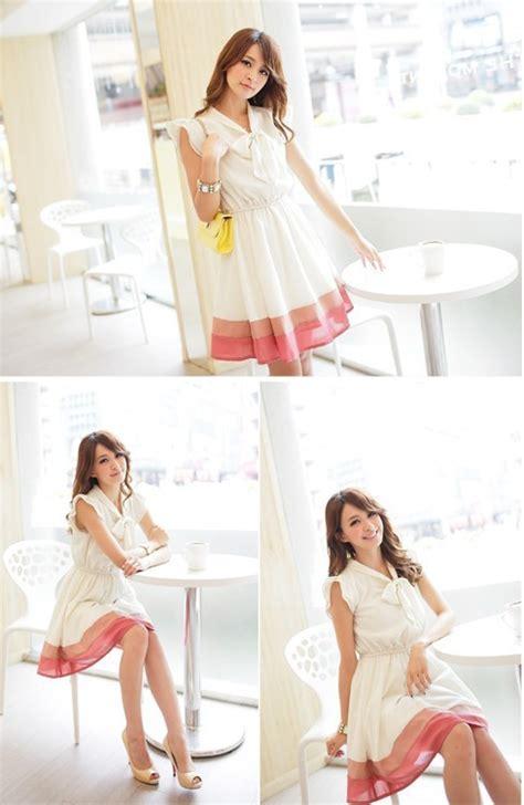 Dress Bahan Balotelly Model Pita Depan Cantik dress import pita cantik model terbaru jual murah import kerja