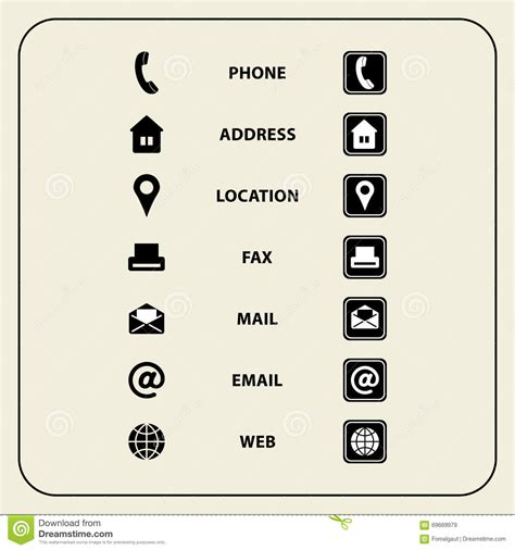business cards templates icons set of web icons for business cards finance and