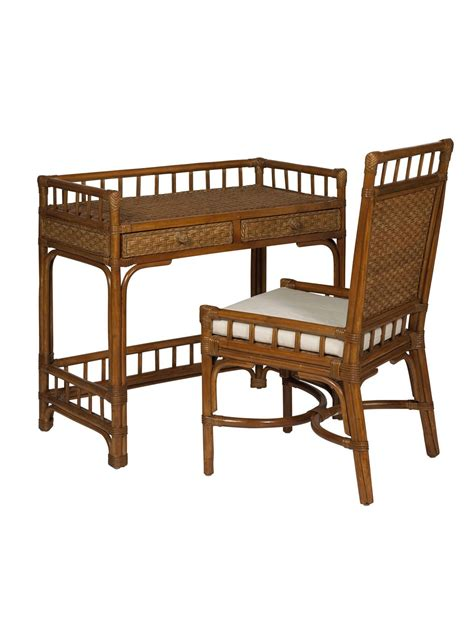cottage wicker rattan writing desk cottage home