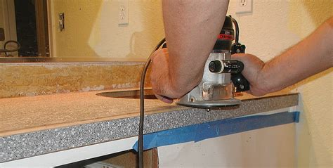 How To Attach Laminate Countertop by Project Bathroom Vanity With Laminate Laminate
