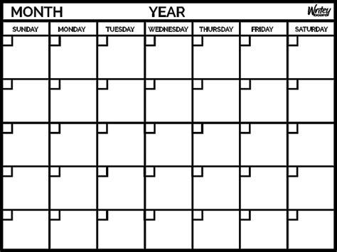 Monthly Calendars Monthly Calendar Yearly Calendar Template