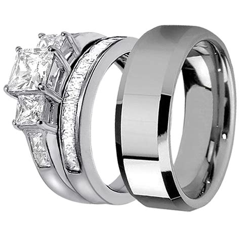 Ring Stainless Steel him and matching ring stainless steel ring for