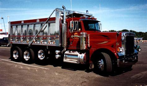 scow dump truck peterbilt dump truck seen at the 2001 u s diesel
