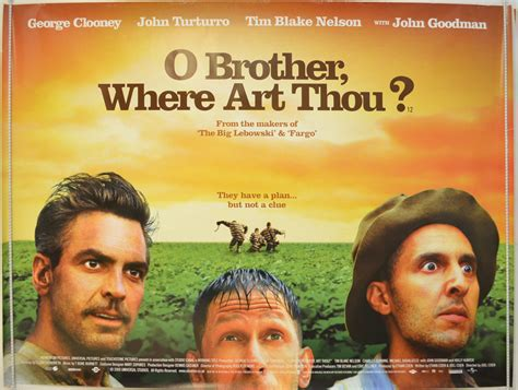 O Brother Where Art Thou? - Original Cinema Movie Poster ... O Brother, Where Art Thou Movie Poster