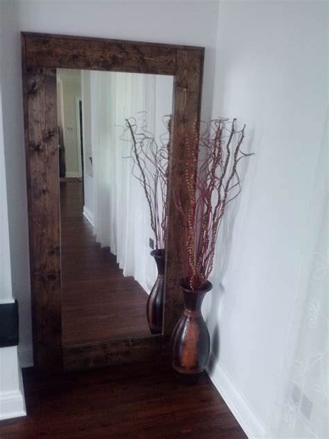 How To Hang Art On Wall by Hand Crafted Large Floor Mirror Reclaimed Wood Mirror