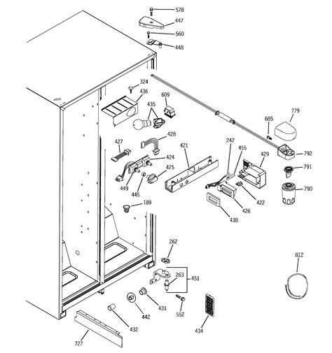ge adora refrigerator parts diagram electrical schematic
