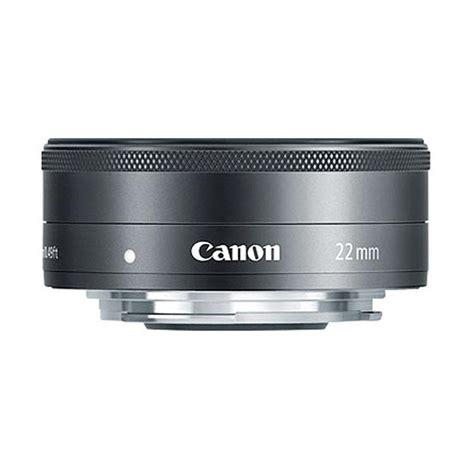 Lensa Canon Ef M 22mm F 2 0 Stm For Eos M M2 M10 M3 M5 M6 jual canon ef m 22mm f 2 stm lensa kamera black