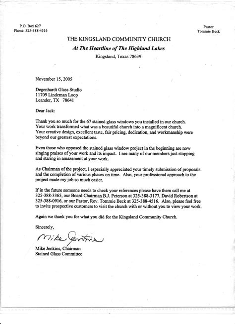 Letter Of Recommendation For Religious Scholarship Church Letters For Fundraisers