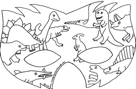 free coloring pages of dinosaur mask