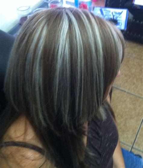 pictures of frosted hair highlights mechas en plata mechas pinterest