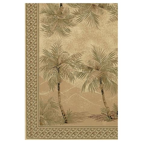 Palm Tree Area Rugs Couristan Everest Palm Tree Desert Sand Floral Area Rug