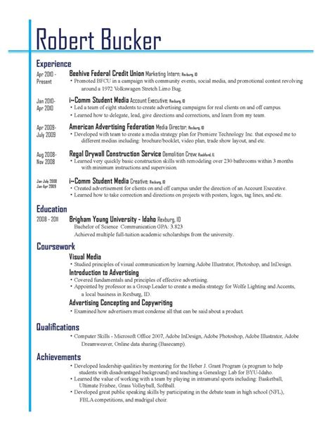 Business Resume Advice Best Resume Layouts 2013 Resume Layout 2013 Given