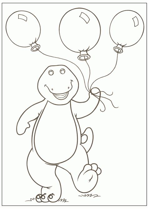 Free Printable Barney Coloring Pages For Kids Printable Colouring Pages For