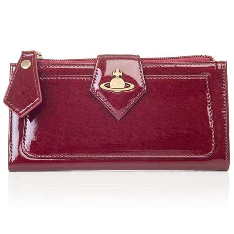 Vivienne Westwood Empire Purse by Vivienne Westwood Patent Saffiano Purse Bordeaux 5442v136