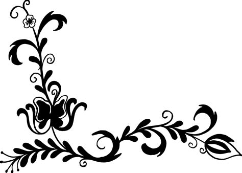 flower pattern vector png corner flower drawing at getdrawings com free for