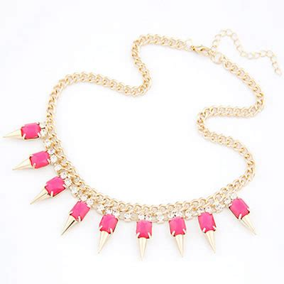 Kalung Korea Choker Pendant Decorated Hollw Out Weaving skeleton plum rivet pendant alloy bib necklaces asujewelry