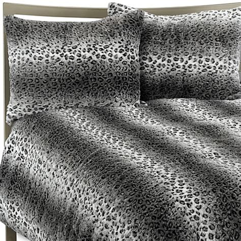 snow leopard faux fur comforter snow leopard faux fur full queen duvet cover set bed