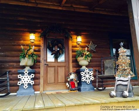 log cabin house tour decorating ideas for log cabins outdoor christmas decorating ideas for an amazing porch